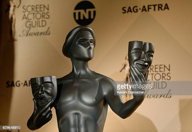 The actor statue is seen during the 23rd annual SAG Awards nominations announcement at Pacific Design Center on December 14 2016 in West Hollywood...
