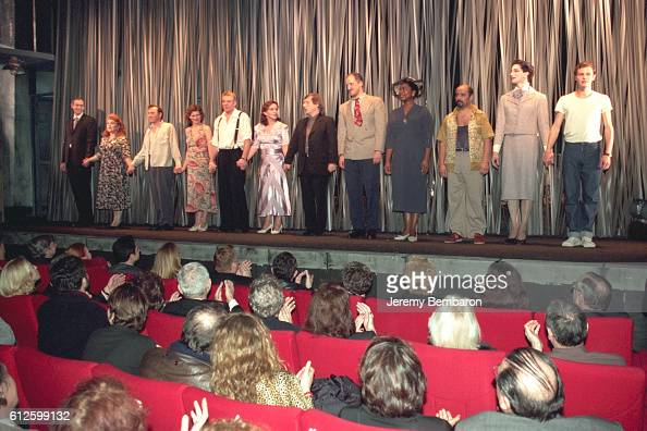 The actors greet the audience at the Eldorado Theater