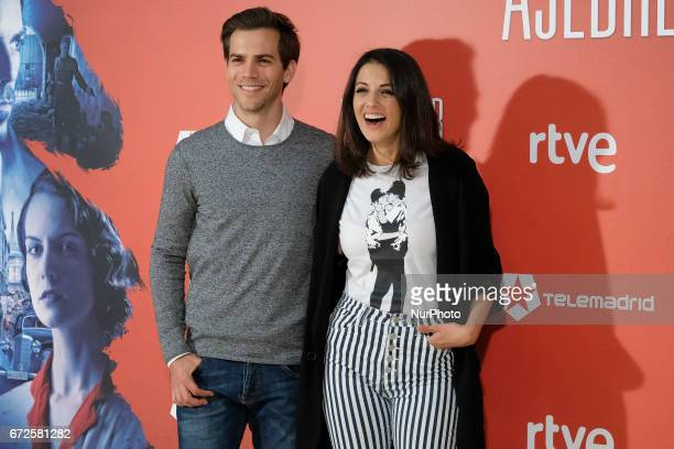 The actors Marc Clotet and Melina Matthews attend the prersentation of the movie quotThe Chess Playerquot in the Princesa de Madrid cinemas Spain 24...