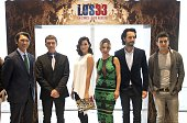 The actors of the film 'The 33' Lou Diamond Phillips Antonio Banderas Cote de Pablo Kate del Castillo and Rodrigo Santoro the producer Mike Medavoy...