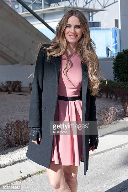 The actress and model Vanessa Romero attends fashion shows of the Madrid Fashion Week in Madrid