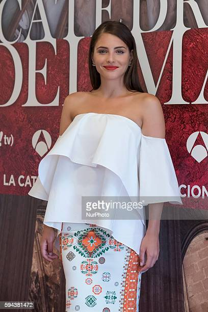 The actress Andrea Duro attends the presentation of the new TV series 'The Cathedral of the Sea' in Madrid Spain August 23 2016