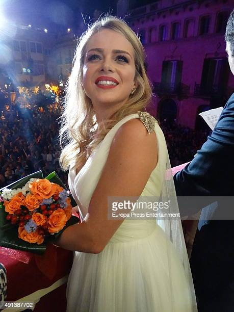 The actress Carla Nieto is appointed Cava Queen 2015 on October 3 2015 in Sant Sadurni d'Anoia Spain