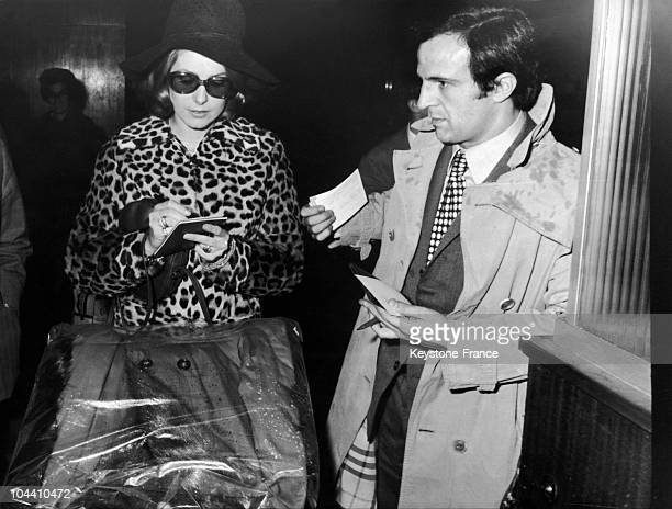 The actress Catherine DENEUVE and the filmmaker Francois TRUFFAUT in Madrid on October 27 1969 The actress was in Spain to shoot Luis BUNUEL's film...