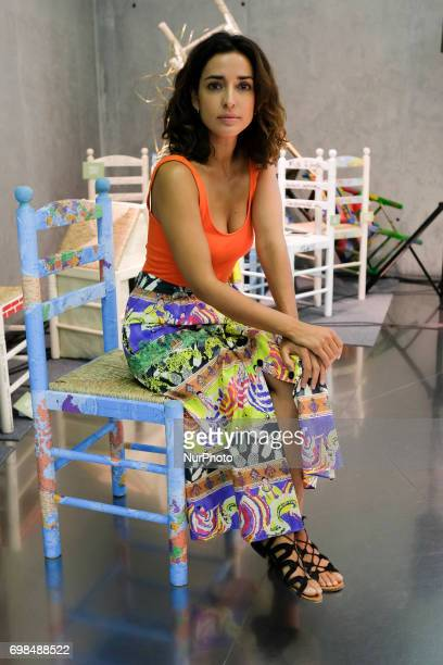 The actress Inma Cuesta poses for the photographers during the press screening of the exhibition Tu Silla Su Refugio in Madrid June 20 2017