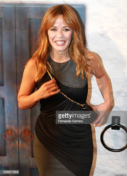 The actress Maria Adanez attend 'Mamma Mia The Musical' Photocall on September 8 2010 in Madrid Spain