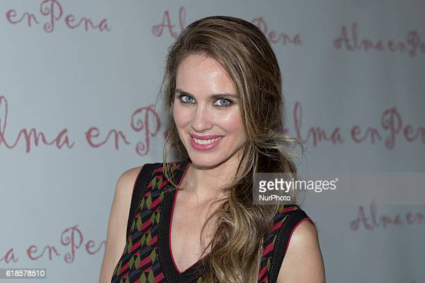 The actress Vanessa Romero attends the presentation of the new collection of the brand Alma Pena in Madrid on October 27 2016