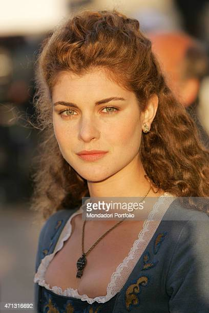 The actress Vittoria Belvedere posing for a photo shooting on the set of second season of the TV miniseries Elisa di Rivombrosa Otranto Italy 13th...