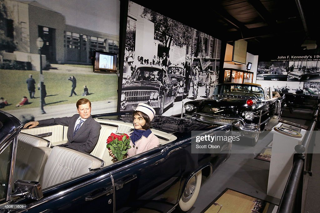 The actual Secret Service car which followed President John F. Kennedy's limousine when he was shot and killed in Dallas is displayed behind a Lincoln convertible similar to the one the president and his wife were riding in at the Historic Auto Attractions museum on November 19, 2013 in Roscoe, Illinois. The museum has a large collection of items from Kennedy's life and death on display. It has been fifty years since John F. Kennedy was assassinated on November 22, 1963.
