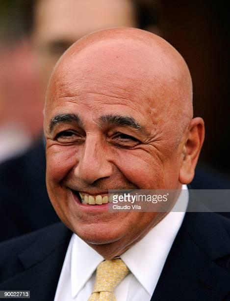 The AD Adriano Galliani of Milan during the Serie A match between Siena and Milan at Artemio Franchi Montepaschi Arena Stadium on August 22 2009 in...