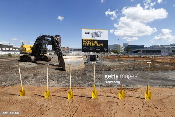 construction begins at the opel ag engine testing center photos and images getty images. Black Bedroom Furniture Sets. Home Design Ideas