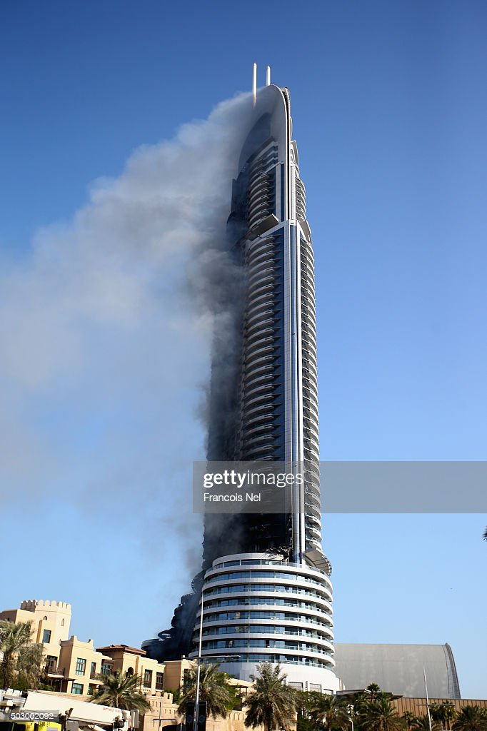 Fire breaks out in dubai skyscraper getty images for New hotels in dubai 2016