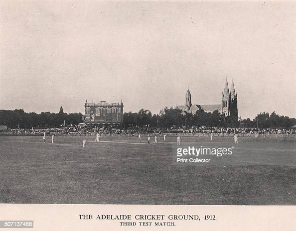 The Adelaide Cricket Ground Third Test Match between Australia and England 1912 From Imperial Cricket edited by P F Warner and published by The...