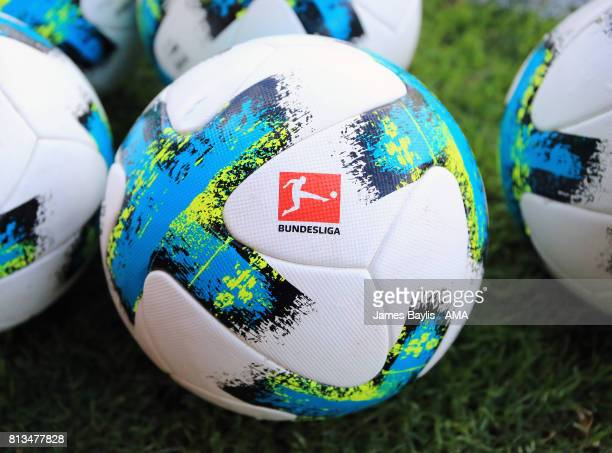 The Adidas Bundesliga matchball before the preseason friendly between Werder Bremen and Wolverhampton Wanderers at Parkstadion Zell Am Ziller on July...