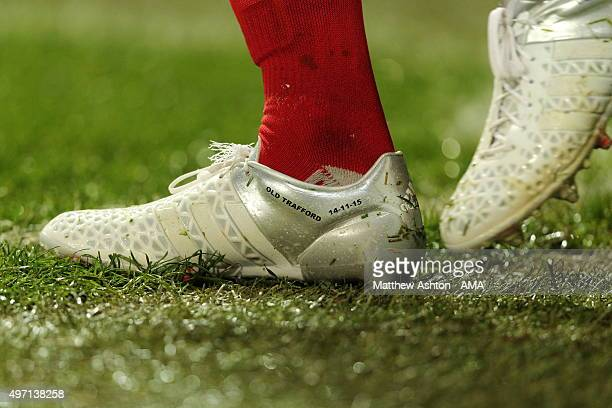 The Adidas football boots work by David Beckham of Great Britain and Ireland XI commemorating the David Beckham Match for Children in aid of UNICEF...