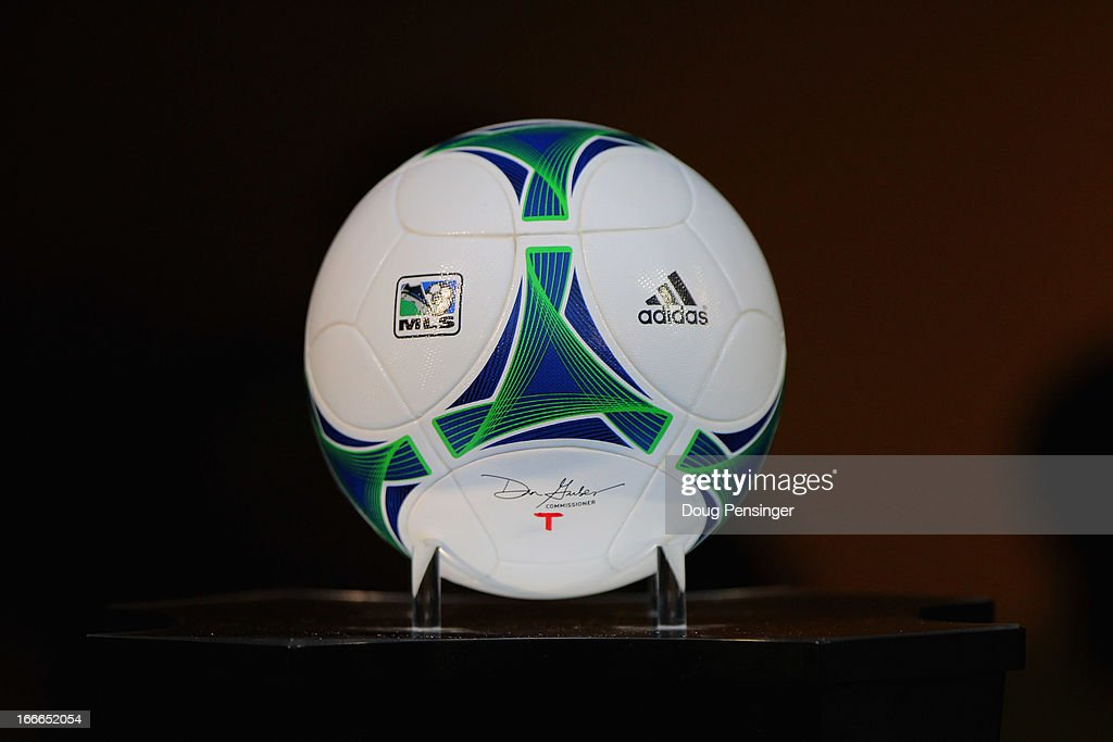 The adidas PRIME game ball is ready for the match between the Portland Timbers and the San Jose Earthquakes at JELD-WEN Field on April 14, 2013 in Portland, Oregon. The Timbers defeated the Earthquakes 1-0.