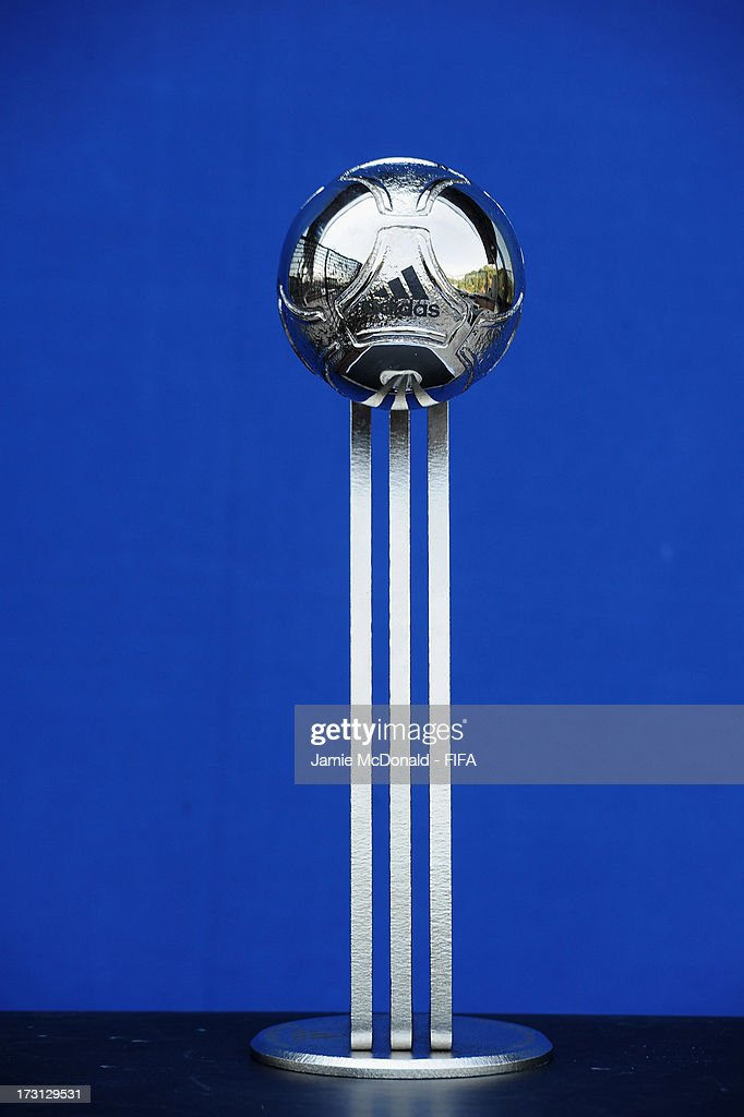 The Adidas Silver Ball award for the FIFA U20 World Cup is pictured at the Ritz Carlton on July 8, 2013 in Istanbul, Turkey.