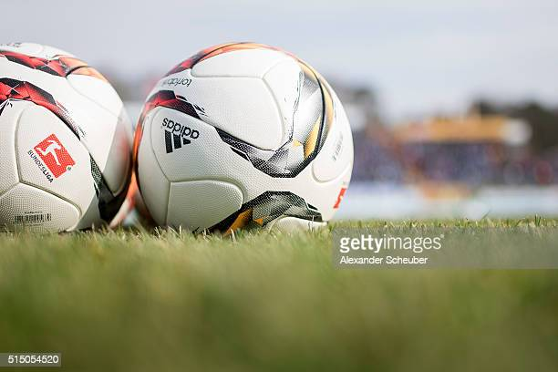 The adidas Torfabrik ball during the first bundesliga match between SV Darmstadt 98 and FC Augsburg at MerckStadion am Boellenfalltor on March 12...