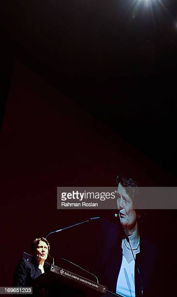The administrator of UNDP and Former Prime Minister of New Zealand Helen Clark delivers her speech during the third day of The Women Deliver...