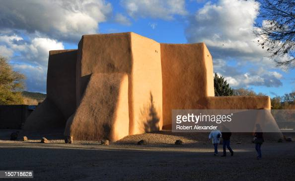 The adobe St Francis of Assisi Mission Church in Ranchos de Taos New Mexico was built between 1772 and 1816 The much photographed and painted Spanish...