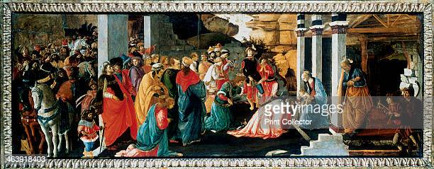 'The Adoration of the Kings' c1470 The three Kings from the East Melchior Gaspar and Balthazar present their gifts of gold frankincense and myrhh to...