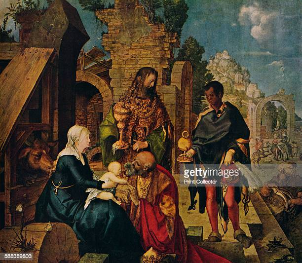 The Adoration of the Magi' 1504 Painting held at the Uffizi Gallery From World Famous Paintings edited by J Grieg Pirie