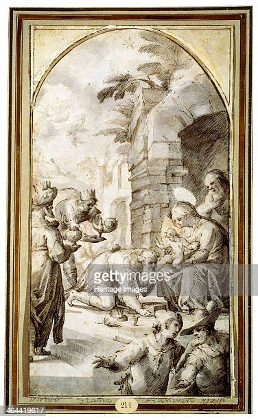 'The Adoration of the Magi' 1597 Found in the collection of the State A Pushkin Museum of Fine Arts Moscow