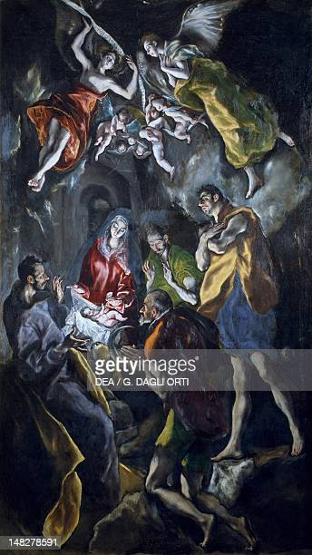 The Adoration of the Shepherds by El Greco oil on canvas 320x180 cm Madrid Museo Del Prado