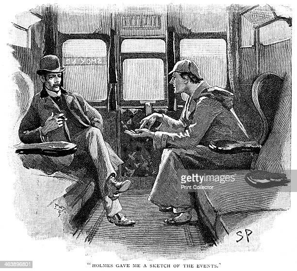 'Holmes gave me a sketch of the events' Sherlock Holmes and Dr Watson on train to Devon to investigate a murder and the disappearance of a famous...