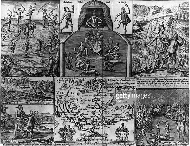 1608 The adventures of Captain John Smith in Virginia including his capture and near execution by King Powhatan his rescue by the king's daughter...
