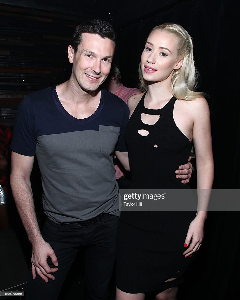 'The Advocate' writer Brandon Voss and <a gi-track='captionPersonalityLinkClicked' href=/galleries/search?phrase=Iggy+Azalea&family=editorial&specificpeople=8558263 ng-click='$event.stopPropagation()'>Iggy Azalea</a> attend <a gi-track='captionPersonalityLinkClicked' href=/galleries/search?phrase=Iggy+Azalea&family=editorial&specificpeople=8558263 ng-click='$event.stopPropagation()'>Iggy Azalea</a>'s 'Change Your Life' EP Release Celebration And Performance at Marquee on October 3, 2013 in New York City.