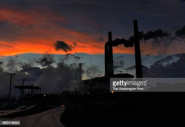 The AEP coal burning plant in Conesville Ohio had a scrubber added to the unit seen emitting smoke in photo There are other units at the coal burning...