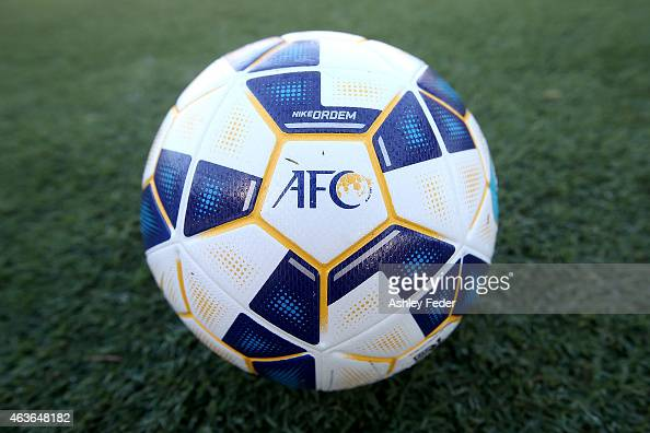 The AFC ball during the Asian Champions League qualifying match between the Central Coast Mariners and Guangzhou at Central Coast Stadium on February...
