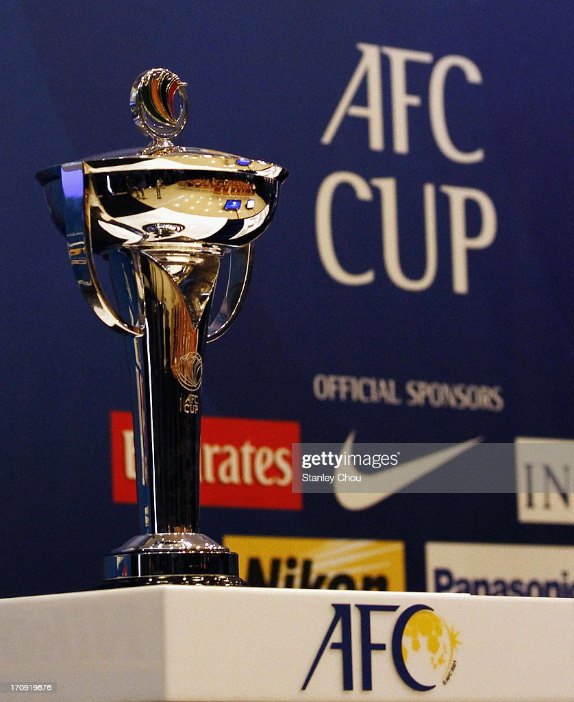 The AFC Cup is displayed during the Quarter Finals Knock-out Stage Draw of the 2013 AFC Cup at the AFC House on June 20, 2013 in Kuala Lumpur, Malaysia.