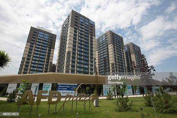 The AFD Plaza a new development of residential property sits in Almaty Kazakhstan on Saturday June 27 2015 Almaty with a population of 16 million in...