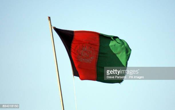 The Afghan National flag flies at the National Army's Camp near Gereshk in Afghanistan The Afghan National Army are working alongside members of the...