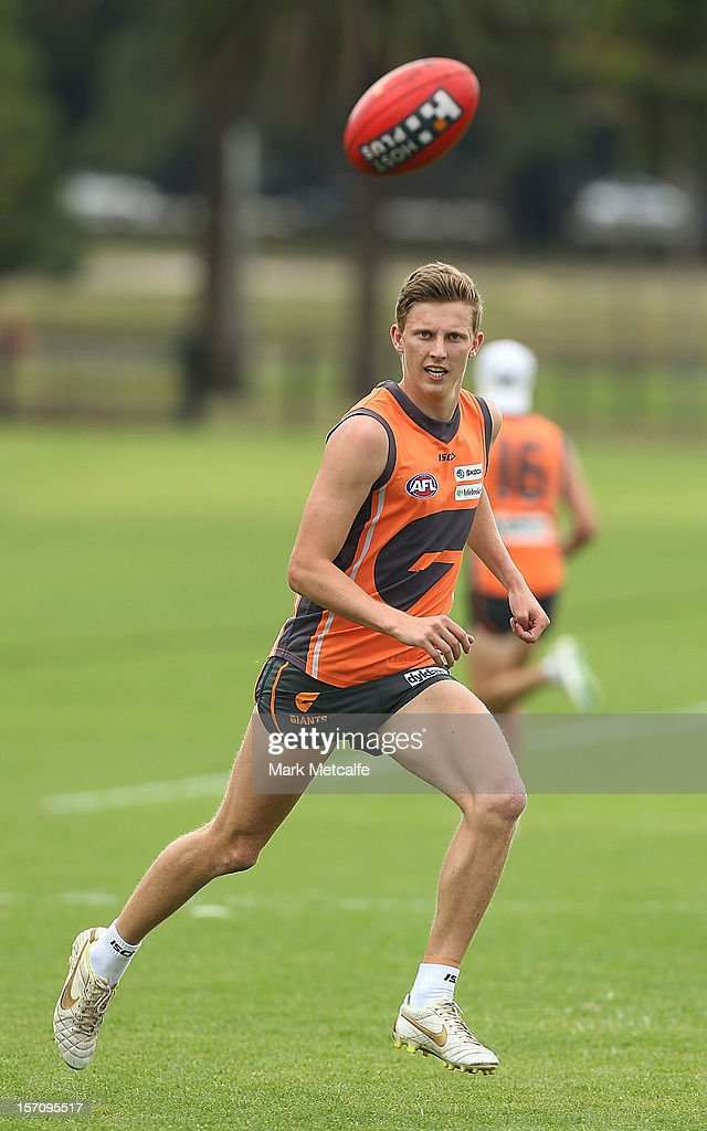 The AFL number one draft pick Lachie Whitfield in action during a Greater Western Sydney Giants AFL pre-season training session at Lakeside Oval on November 28, 2012 in Sydney, Australia.