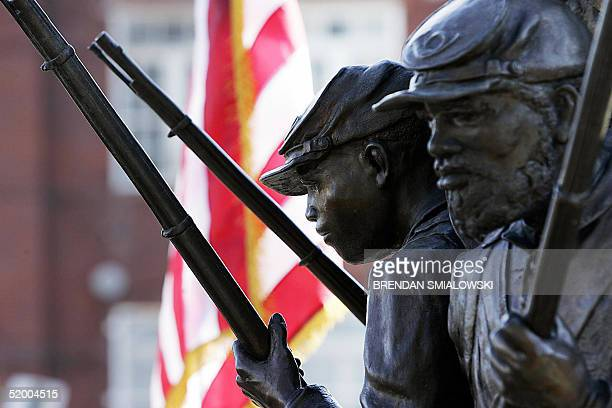 The African American Civil War Memorial is pictured 17 January 2005 in Washington DC A wreath laying ceremony took place at the memorial earlier 17...