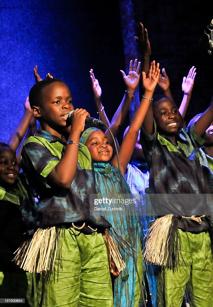 The African Children's Choir perform at the 4th annual African Children's Choir Fundraising Gala at City Winery on December 3, 2012 in New York City.