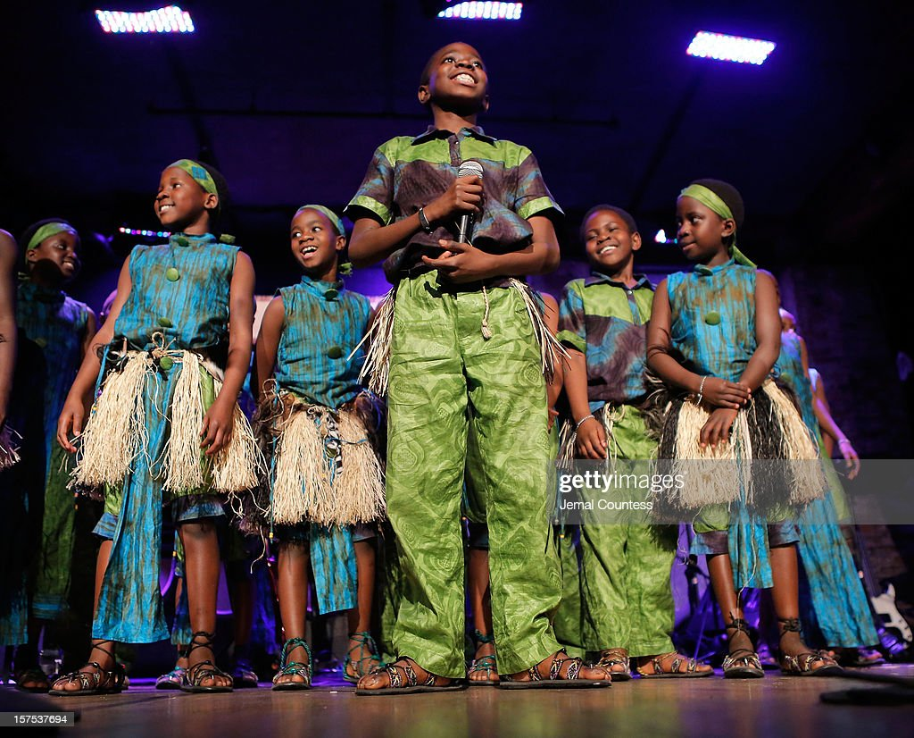The African Childrens Choir performs during the 4th Annual African Children's Choir Fundraising Gala at City Winery on December 3, 2012 in New York City.