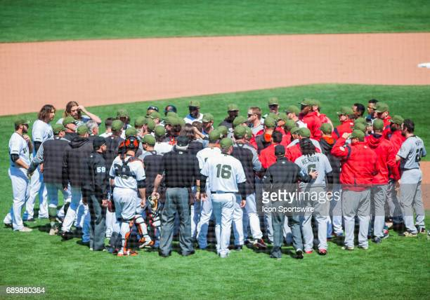 The aftermath of a fight between Washington Nationals right fielder Bryce Harper and San Francisco Giants relief pitcher Hunter Strickland left the...