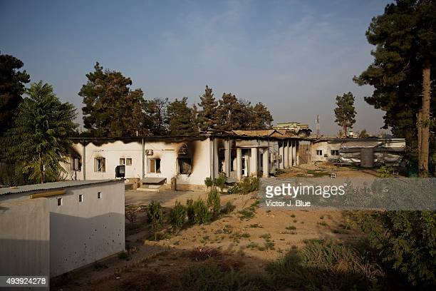 The aftermath of the US airstrike on the Medecins Sans Frontieres hospital in Kunduz Afghanistan that took place on October 3 that killed 22 people...