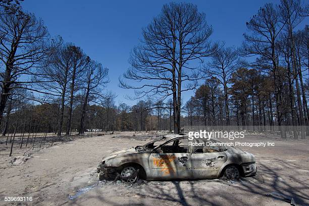 The aftermath of wildfire through the piney woods in Bastrop County 30 miles east of Austin is shown in these destroyed homesteads The fires...
