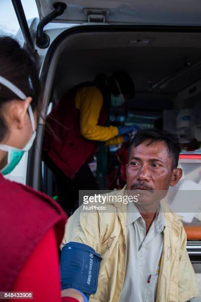 The aftermath scene at Mangga Dua in Jakarta Indonesia on 17 September 2017 Atleast 700 houses from 750 families were burnt at dense population in...