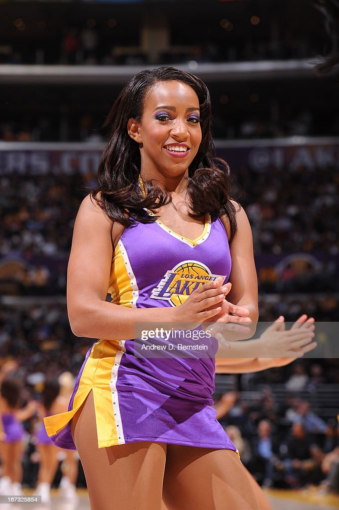 The against the Los Angeles Lakers dance team performs before the game against the Washington Wizards at Staples Center on March 22, 2013 in Los Angeles, California.