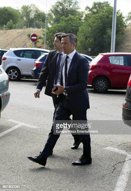 The agent of Portuguese soccer players Jorge Mendes arrives to Pozuelo de Alarcon Court to declare by the alleged tax evasion of 56 million euros of...