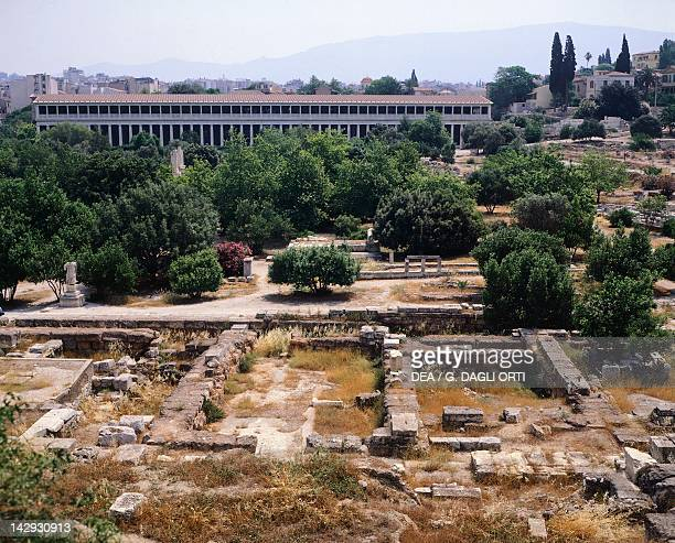 The Agora in Athens in the background The Stoa of Attalus Greek Civilization 6th2nd Century BC