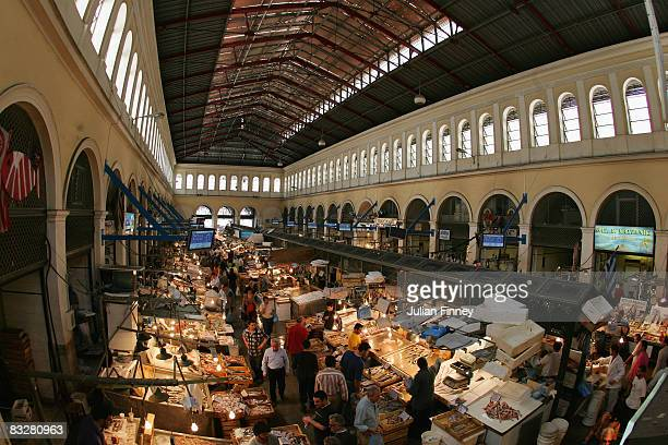 The Agora on Athinas Street otherwise known as the Athens Central Market on May 5 2007 in Athens Greece