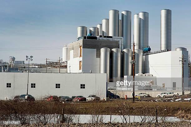 The AgroFarma Inc facility producer of Chobani Inc yogurt stands in New Berlin New York US on Tuesday Jan 31 2012 AgroFarma Inc manufactures dairy...