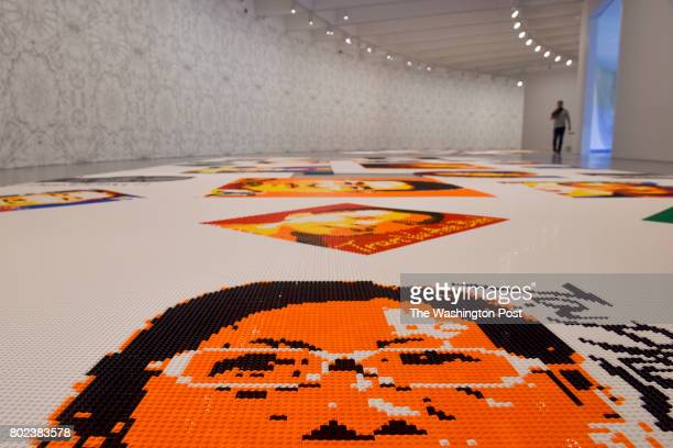 Trace at Hirshhorn exhibit features floor coverings made entirely of Legos that bear portraits of civil rights and free speech advocates at the...